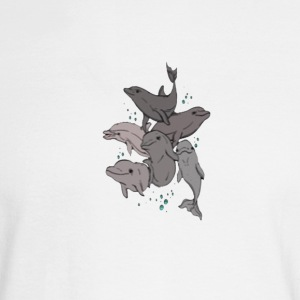 Playful Dolphins - Men's Long Sleeve T-Shirt