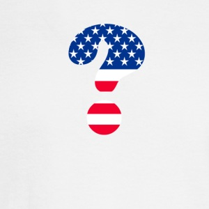 Flag Question Mark T-shirt - Men's Long Sleeve T-Shirt