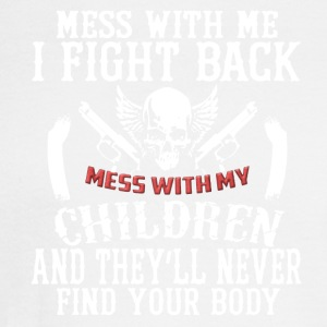 Don't Mess With My Children Tee Shirt - Men's Long Sleeve T-Shirt