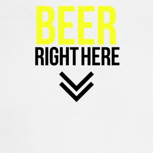 Beer right here - Men's Long Sleeve T-Shirt