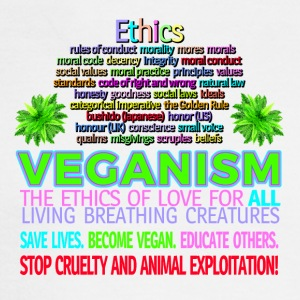 Ethics STOP ANIMAL EXPLOITATION. Go vegan. - Men's Long Sleeve T-Shirt