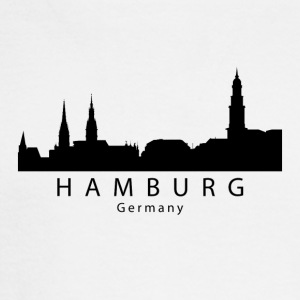 Hamburg Germany Skyline - Men's Long Sleeve T-Shirt