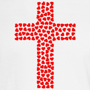 Cross with hearts - Men's Long Sleeve T-Shirt