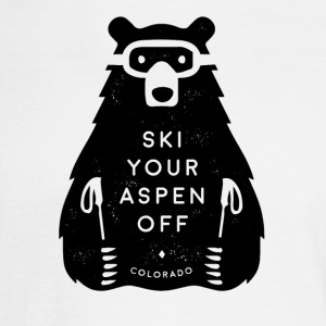 Ski Your Aspen Off Funny Bear - Men's Long Sleeve T-Shirt
