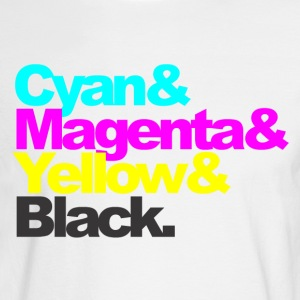 Cyan and Magenta and Yellow and Black - Men's Long Sleeve T-Shirt