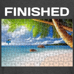 Beach Puzzle Finished - Men's Long Sleeve T-Shirt