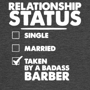 Relationship Status Taken By A Badass Barber Shirt - Men's Long Sleeve T-Shirt