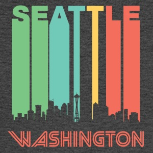 Retro Seattle Skyline - Men's Long Sleeve T-Shirt