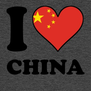 I Love China Chinese Flag Heart - Men's Long Sleeve T-Shirt