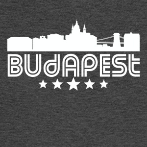 Retro Budapest Skyline - Men's Long Sleeve T-Shirt