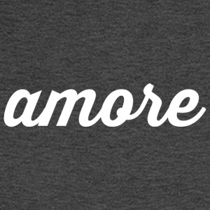 Amore - Cursive Design (Black Letters) - Men's Long Sleeve T-Shirt