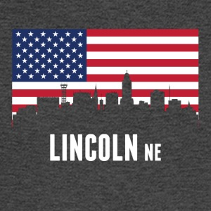 American Flag Lincoln Skyline - Men's Long Sleeve T-Shirt