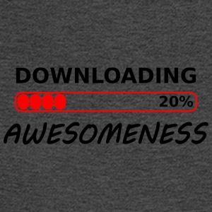 downloading awesomeness tshirt - Men's Long Sleeve T-Shirt