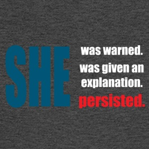 she was warned persisted - Men's Long Sleeve T-Shirt
