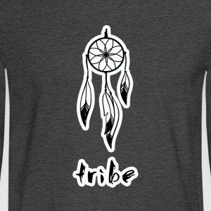 Tribe No. 2 (Native American w/Outline) - Men's Long Sleeve T-Shirt
