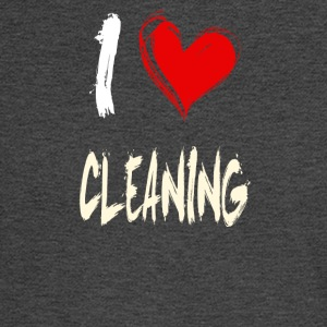 I love CLEANING - Men's Long Sleeve T-Shirt