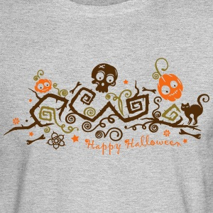 Halloween ornament with pumpkins and skull. - Men's Long Sleeve T-Shirt