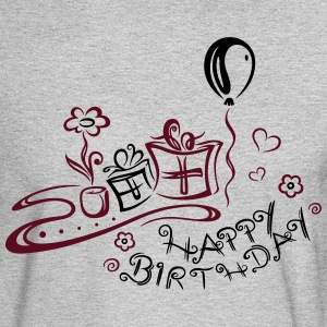 Happy Birthday motif, Congratulations - Men's Long Sleeve T-Shirt