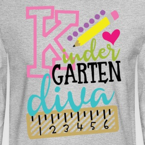 Back To School Kindergarten Diva - Men's Long Sleeve T-Shirt
