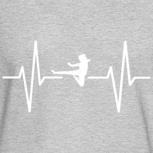 My heart beats for karate! gift - Men's Long Sleeve T-Shirt