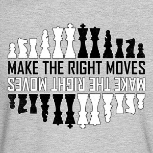 Make the right moves Chess Checkmate Chess Board - Men's Long Sleeve T-Shirt