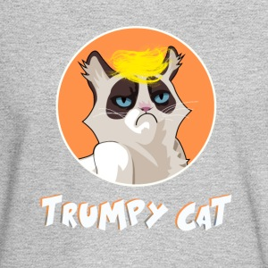 Cat Trump President USA trumpy joke karrikatur lol - Men's Long Sleeve T-Shirt