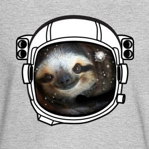 sloth helmet space sci fi astronaut nasa rocket lo - Men's Long Sleeve T-Shirt