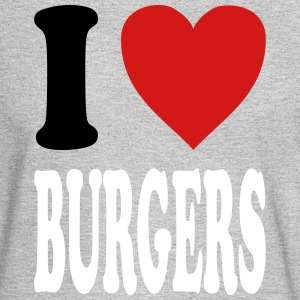 I love BURGERS (variable colors!) - Men's Long Sleeve T-Shirt