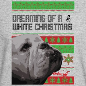 Bulldog Dreaming of a White Christmas - Men's Long Sleeve T-Shirt