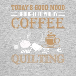 Good Mood Brought Coffee And Quilting - Men's Long Sleeve T-Shirt