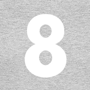 8, Eight, Number Eight, Number 8 - Men's Long Sleeve T-Shirt