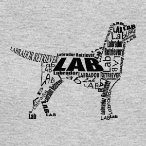 Labrador Retriever Body With Text Design - Men's Long Sleeve T-Shirt