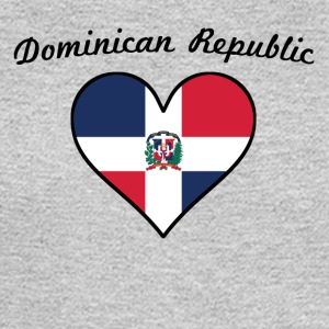 Dominican Republic Flag Heart - Men's Long Sleeve T-Shirt