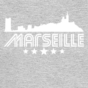 Retro Marseille Skyline - Men's Long Sleeve T-Shirt