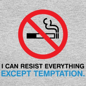 I Can Not Resist The Temptation! - Men's Long Sleeve T-Shirt