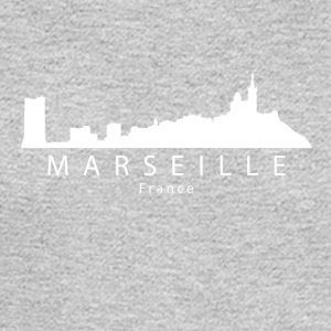 Marseille France Skyline - Men's Long Sleeve T-Shirt
