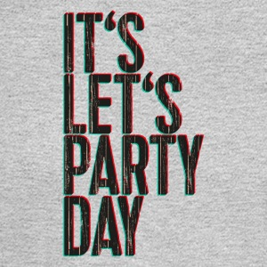 It's Let's Party Day - 3D look typeface - Men's Long Sleeve T-Shirt