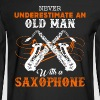 Old Man With A Saxophone - Men's Long Sleeve T-Shirt