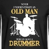 Old Man Drummer - Men's Long Sleeve T-Shirt