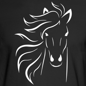 Horse fur rider hooves riding pony farm wit humor - Men's Long Sleeve T-Shirt