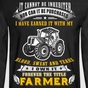Forever the title Farmer T Shirts - Men's Long Sleeve T-Shirt