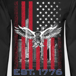 American Flag T Shirts - Men's Long Sleeve T-Shirt