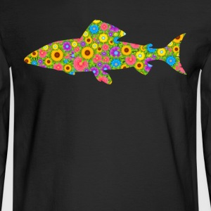 Salmon Flower Shirt - Men's Long Sleeve T-Shirt