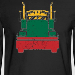 Lithuanian Trucker Shirt Lithuania Flag Long Haul Trucker - Men's Long Sleeve T-Shirt