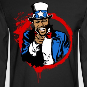 Floyd Mayweather Uncle Sam IRS Tax (Red Circle) - Men's Long Sleeve T-Shirt