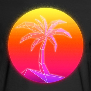 Sunset Palmtree, 80's Style - Men's Long Sleeve T-Shirt