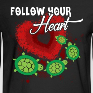 SEA TURTLE HEART SHIRT - Men's Long Sleeve T-Shirt