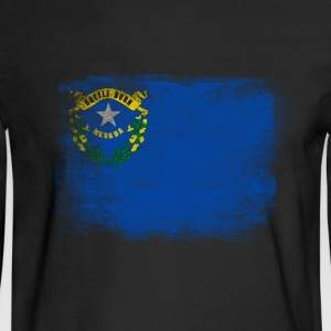 Nevada State Flag Distressed Vintage - Men's Long Sleeve T-Shirt