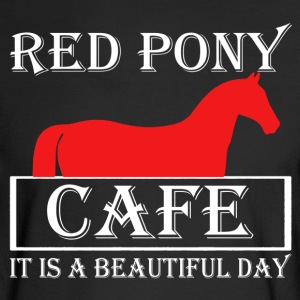 Red Pony Cafe Shirt - Men's Long Sleeve T-Shirt