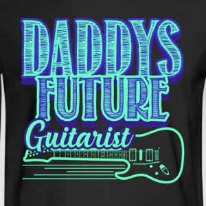 DADDYS FUTURE GUITARIST SHIRT - Men's Long Sleeve T-Shirt